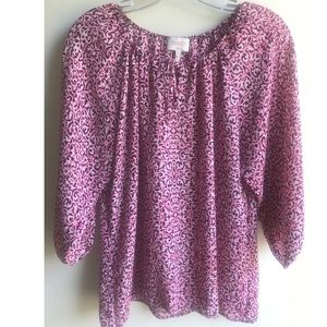 Laundry by Shelli Segal Blouse Sz Med